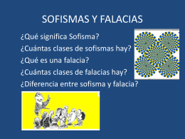 SOFISMAS Y FALACIAS - El rincon de la motivación