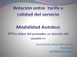 Relación entre tarifa y calidad del servicio del autobús