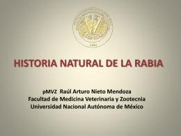 HISTORIA NATURAL DE LA RABIA - Zoonosis