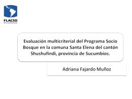 Evaluación multicriterial del Programa Socio Bosque