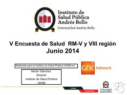 Presentación Financiamiento - Instituto de Salud Publica de la