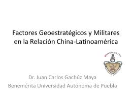 Factores geoestrate*gicos y militares en la relacio*n - red alc
