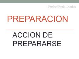 PREPARACION - Iglesia Shekina