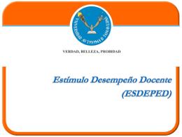 Estímulo Desempeño Docente - Universidad Autónoma de