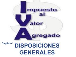 LEY DEL IVA DISP. GRALES