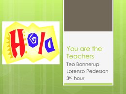 You are the Teachers - Spanish 2, Brownlow