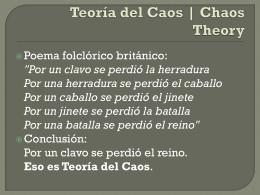 Teoría del Caos | Chaos Theory