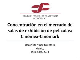 Concentración en el mercado de salas de exhibición de películas