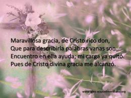 Maravillosa gracia - Iglesia Evangélica Ciudad Meridiana