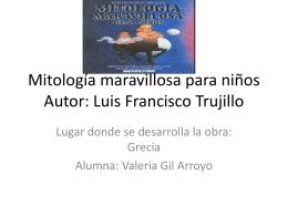 Mitolog+¡a maravillosa para ni+¦os (VALERIA)