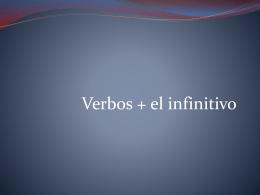 Verbo + infinitivo