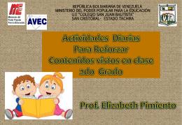 Actividades 2do grado - UE Colegio San Juan Bautista