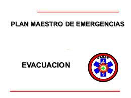 EVACUACION PARA EMERGENCIAS