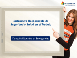 Cartilla educativa en emergencias