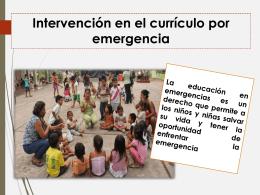 Intervención en el currículo por emergencia