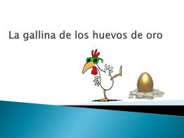 La gallina de los huevos de oro fabula