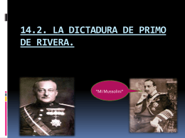 14.2 DICTADURA PRIMO DE RIVERA