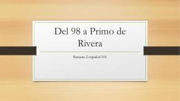 Del 98 a Primo de Rivera