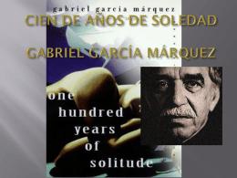 CIEN DE AÑOS DE SOLEDAD GABRIEL GARCÍA