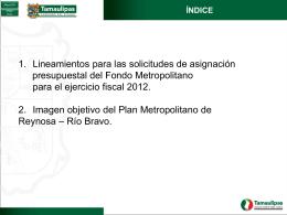D - Programa de OTyDU Metropolitano de Reynosa