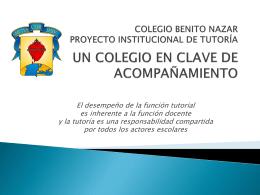 proyecto institucional de tutoría
