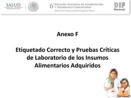 IPPEA – Anexos F y Etiquetas