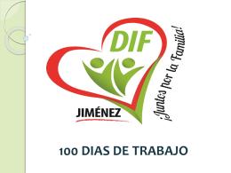 100 dias de trabajo dif