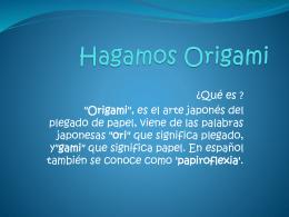 Hagamos Origami
