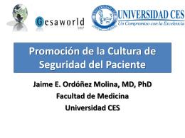 Promoción de la Cultura de Seguridad del Paciente