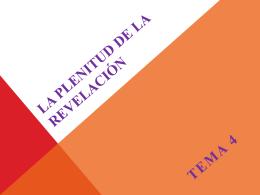 la plenitud de la revelación