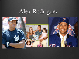 Alex Rodriguez - WordPress.com