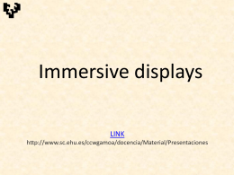 VR-immersive displays