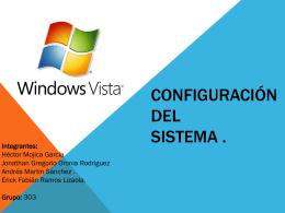Configuración del sistema - Seguridad