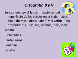 Ortografía B y V