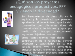 ¿Qué son los proyectos pedagógicos productivos, PPP viviendo la