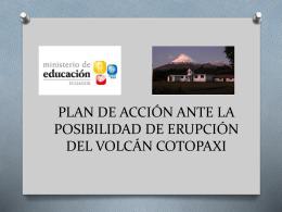 plan de accion ante la posibilidad de erupcion