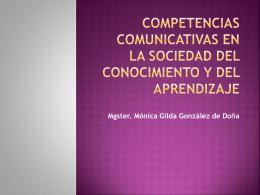 Competencias comunicativas en la Sociedad del Conocimiento y