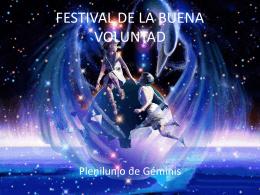 FESTIVAL DE LA BUENA VOLUNTAD