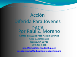 Acción Diferida Para Jóvenes DACA