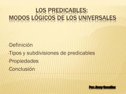 Los Predicables: modos lógicos de los universales
