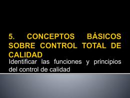 8. Conceptos basicos sobre control Total de la calidad