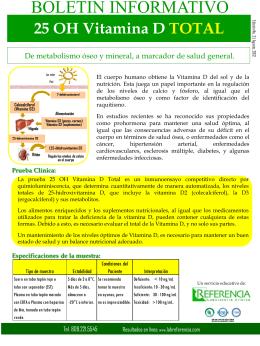 Medición de 25 (OH)-vitamina D Total (D2 y D3)