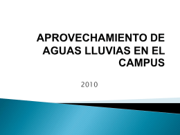 APROVECHAMIENTO DE AGUAS LLUVIAS