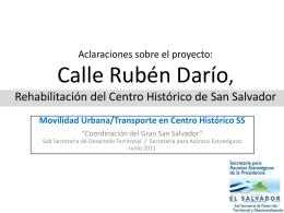 Calle Rubén Darío. Rehabilitación del Centro Histórico de San