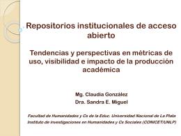 Repositorios institucionales de acceso abierto Tendencias y