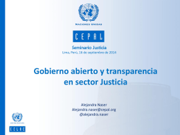 Gobierno abierto y transparencia en sector Justicia. – Alejandra Naser