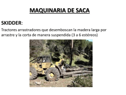 MAQUINARIA DE SACA