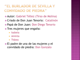 El burlador de Sevilla y convidado de piedra