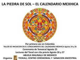 LA PIEDRA DE SOL * EL CALENDARIO MEXHICA