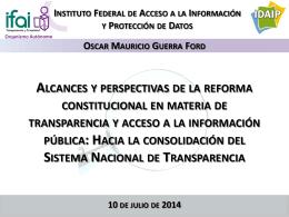 Hacia un Sistema Nacional de Transparencia